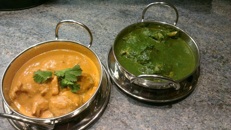 Leela's kitchen new Butter chicken and Spinach chicken for your dinner parties. @Julie O'Neil of Man