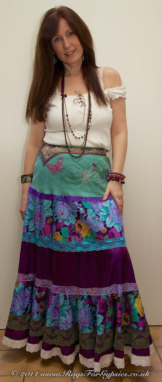 Leighanabelle Romantic Bela Gypsy Tiered Camponês saia longa em cores vibrantes