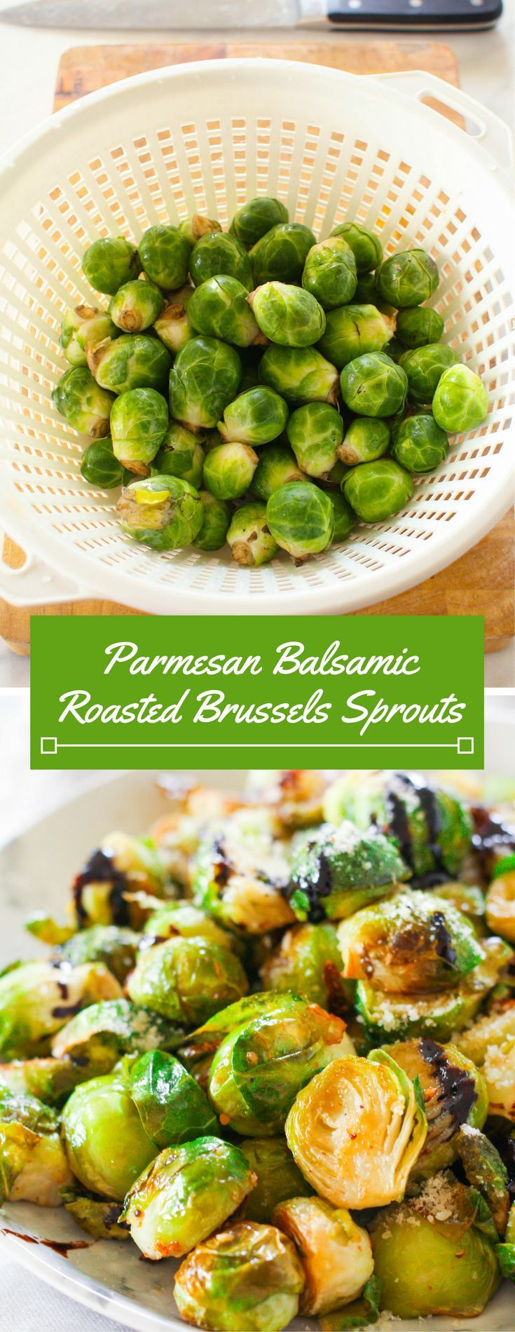 Parmesan Balsamic Roasted Brussels Sprouts. #recipe #recipes #recipeoftheday #recipeoftheweek #healthy #healthyrecipes #healthyfood #healthyliving