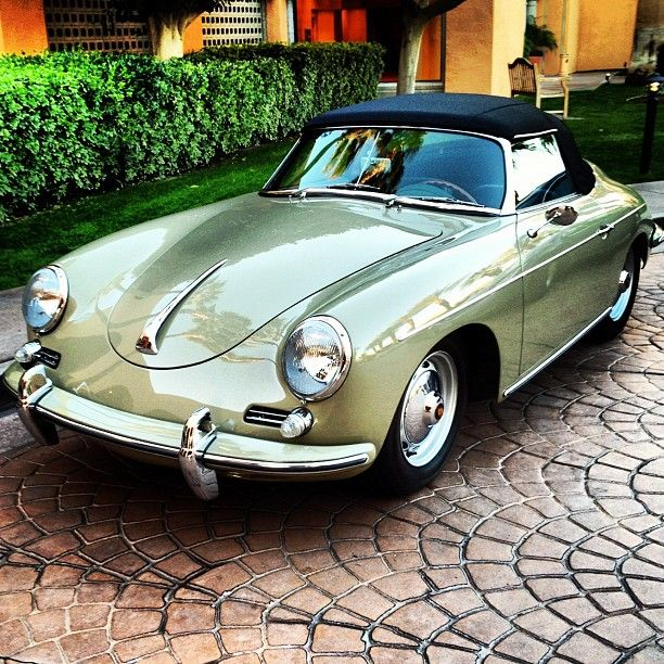 Porsche 356 Cabriolet- A work of art and it was in production line which you can hardly find these days except for some custom job.
