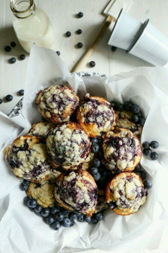 Blueberry crumble muffins.