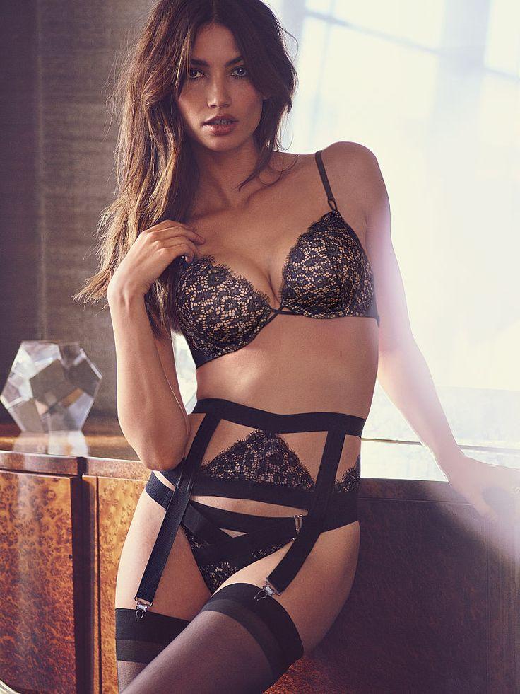 Best Lily Aldridge Images On Pinterest Sexy Lingerie - Porte jarretelle victoria secret