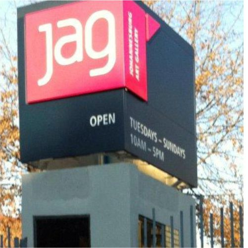 Signage Installation at the Johannesburg Art Gallery, South Africa #wayfinding #signage #design #rubyoriginal