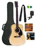 Yamaha Gigmaker Standard Acoustic Guitar Pack, Natural $ 169.99 Acoustic Guitars Product Features The perfect package for beginers with everything you need to get started Includes: carrying bag, tuner, strings, strap, picks, FREE Lessons DVD FREE instructional DVD includes tips on tuning, chords, scales and more C .. http://www.guitarhomes.com/yamaha-gigmaker-standard-acoustic-guitar-pack-natural-36/