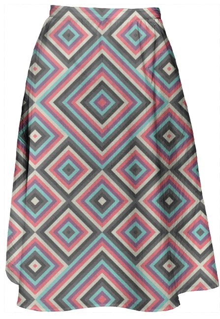 Kernoga Skirt by Fimbis  #fashion #pink #purple #grey #blue