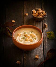 Рецепт - Суп-пюре из цветной капусты и вешенок
