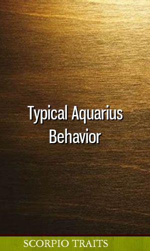 Typical Aquarius Behavior #zodiac #aries #gemini #cancer