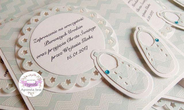 pasjonata.zaproszenia: # 13 Zaproszenia na chrzest i roczek