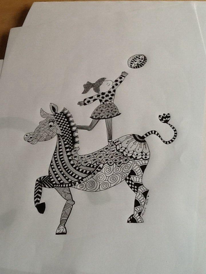 Tegning til en lille pige