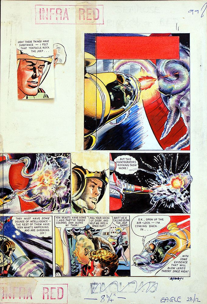 Dan Dare: The Man from Nowhere - Eagle volume 6 issue 43 page 1 (Original) art by Frank Hampson at The Illustration Art Gallery