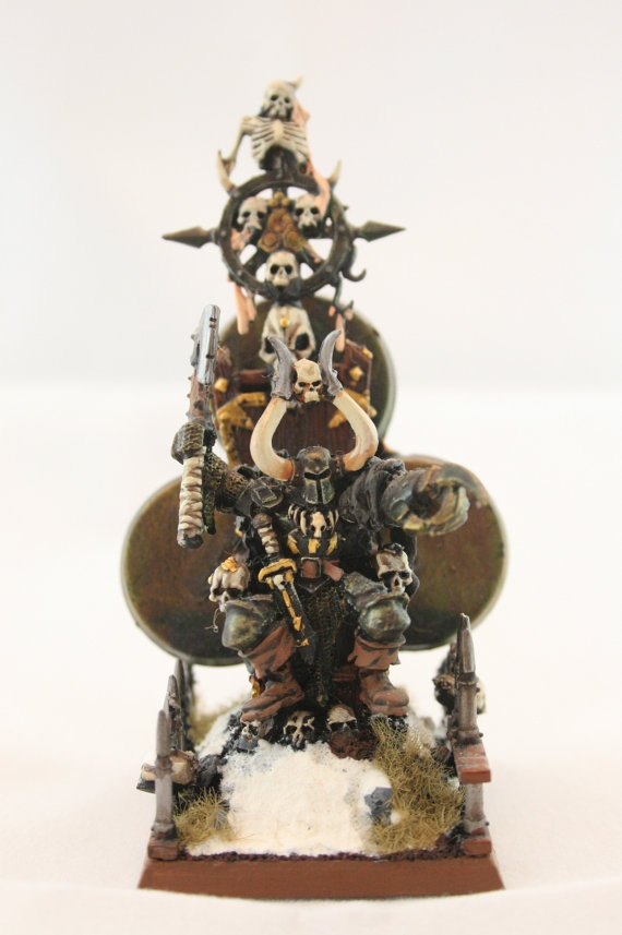 Hand painted Warhammer Fantasy Chaos Lord of Nurgle by Wolftribe, $35.00
