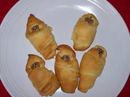 baby shower ideas on a budget - Google Search unique sausage rolls (babys in a blanket)
