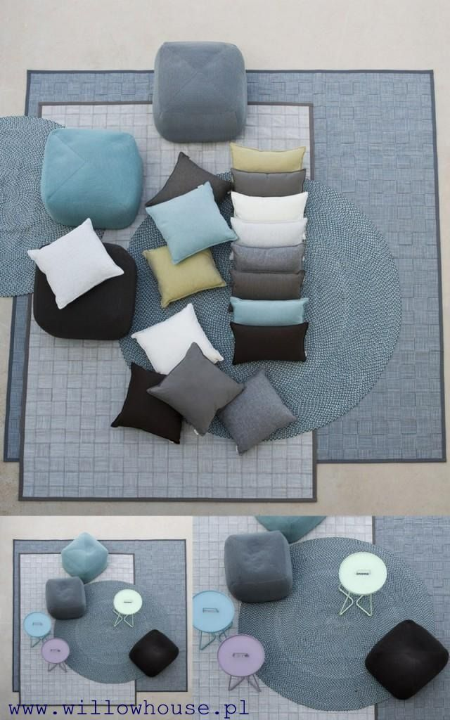 Poduszki, pufy i dywany ogrodowe Cane-line. Zapraszamy do Willow House.