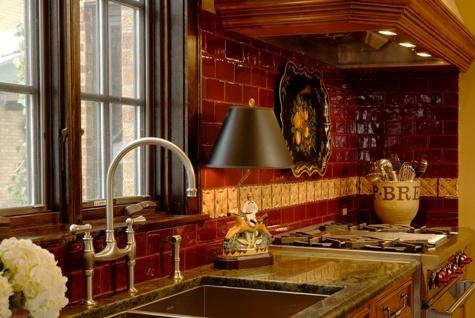 Wonderful French Country Kitchen   Great Backsplash!