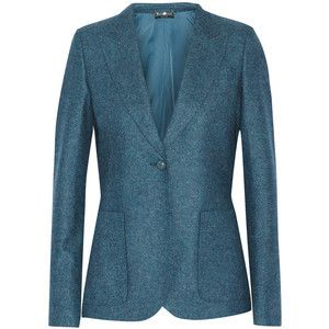 Blue menswear-inspired blazer by Gucci. Learn what to wear this fall, 2015 >>> http://justbestylish.com/what-to-wear-this-fall/