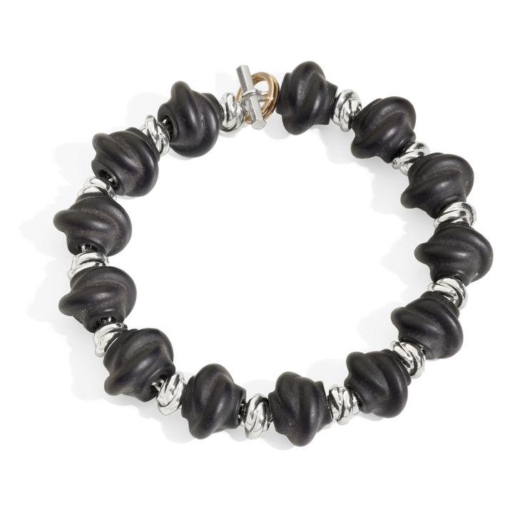 Nodi in jet e nodini in argento  bracelet silver gift women gioiello moda fashion jewellery beautiful