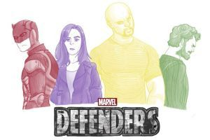 Defenders by pencilHeadno7. There's announced on on the crossover on Marvel Netflix series on Daredevil, Jessica Jones and the upcoming new Nick Cage (September 30 2016) and  Iron Fist (2017 Marvel Netflix series). Plus, Luke Cage trailer Iron Fist teaser, Daredevil season 3 announced The Defenders teaser on Netflix YouTube.