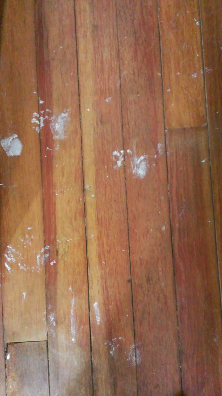 Green And Glassie How To Get Paint Off Of Old Hardwood