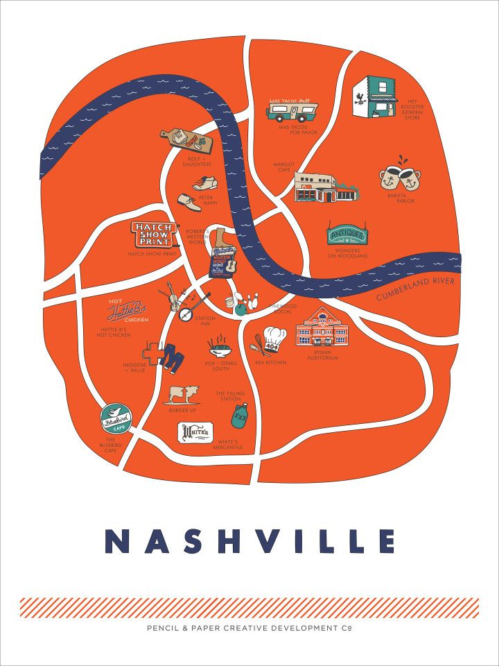 Pencil & Paper's Guide to Nashville Free Printable