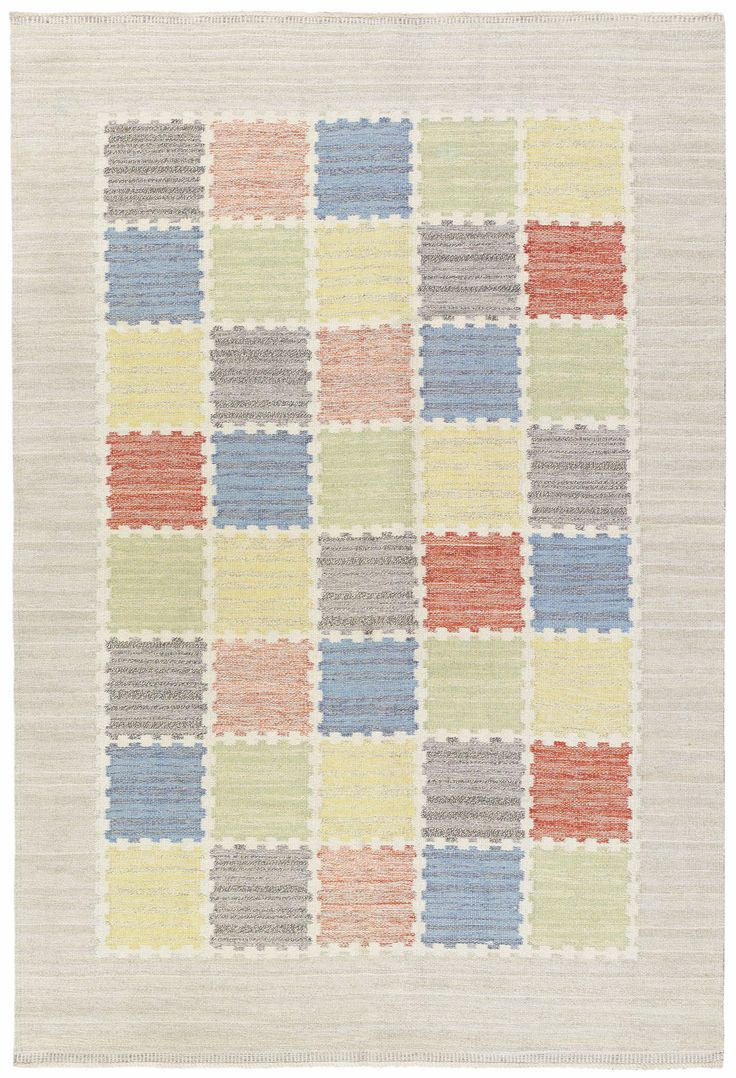 Vintage Rugs: Vintage Rug Swedish Flat weave for Scandinavian scandi interior decor, Scandinavian living room Vintage Swedish Flatweave by Märta Måås-Fjetterström