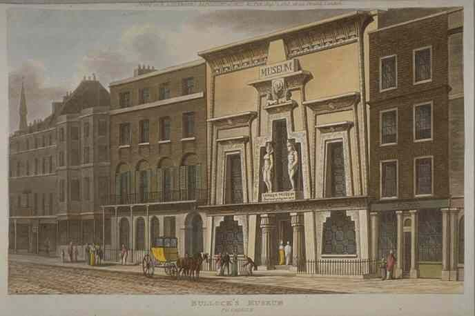 Bullock's Museum in 1815 artist unknown