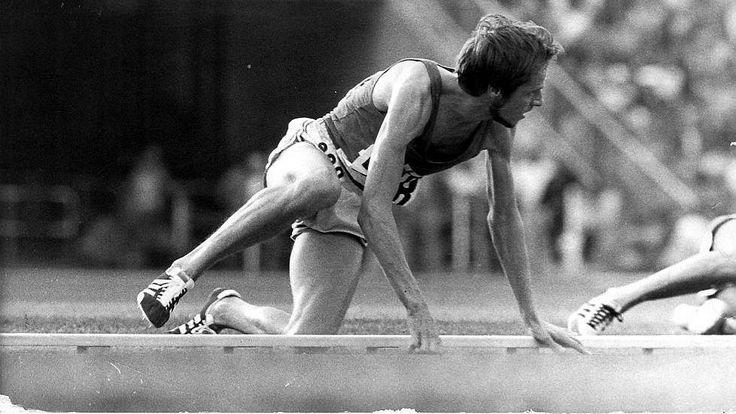 Legendary fall to win Olympic gold, Lasse Viren. Never never give up.