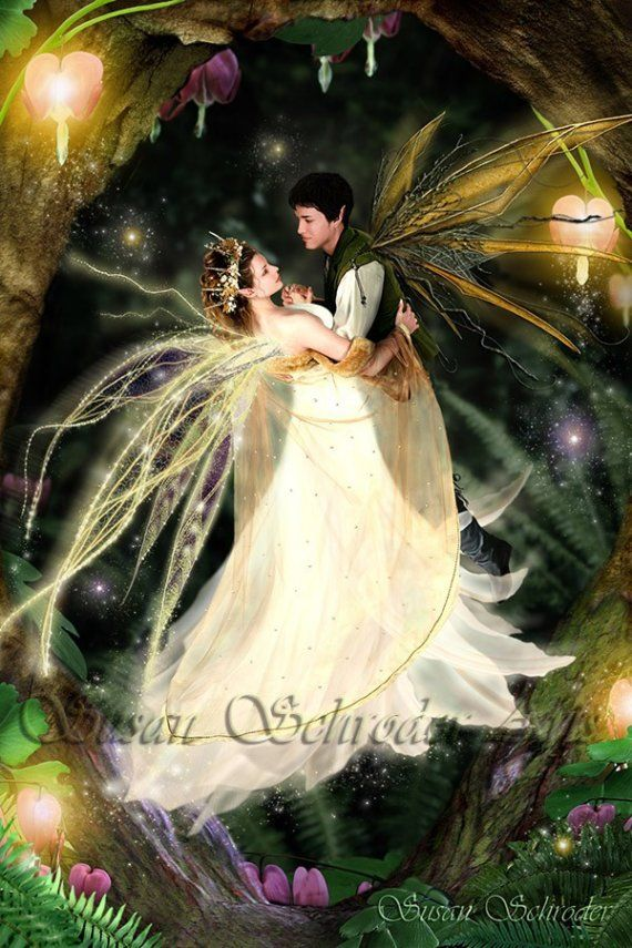 Faeries Dance by Susan Schroder Fairy Art  Print