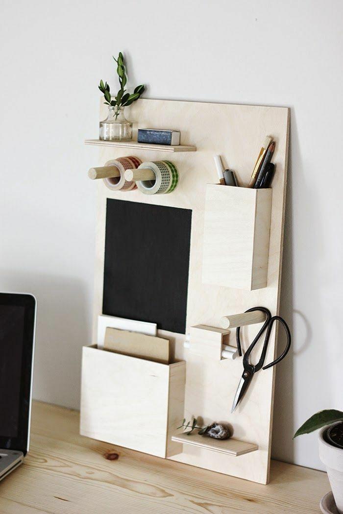 selbstgebaute Wohnaccessoires fürs Homeoffice aus Holz