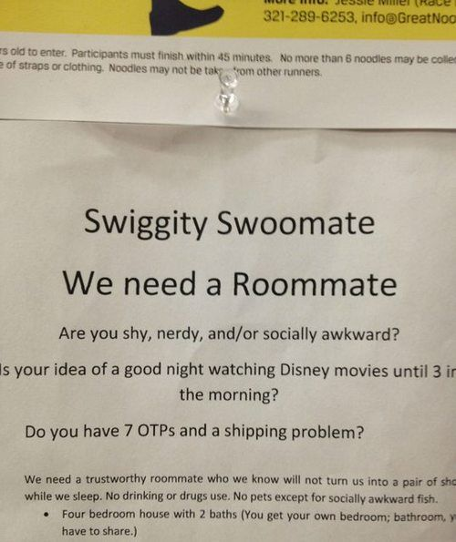 I WANT TO BE THEIR ROOMMATE <--what the crap is the notice on top of it for?? read what little part you can and i want to find out the rest