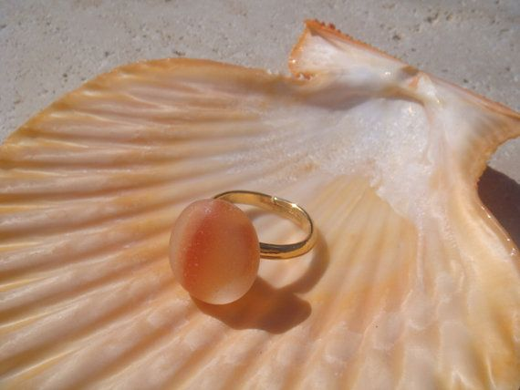 sea glass/sea glass ring/ beach glass ring by Beachist on Etsy, $23.00