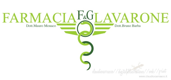 Farmacia F Lavarone Logo By Claudio Carrasco www.claudiocarrasco.it