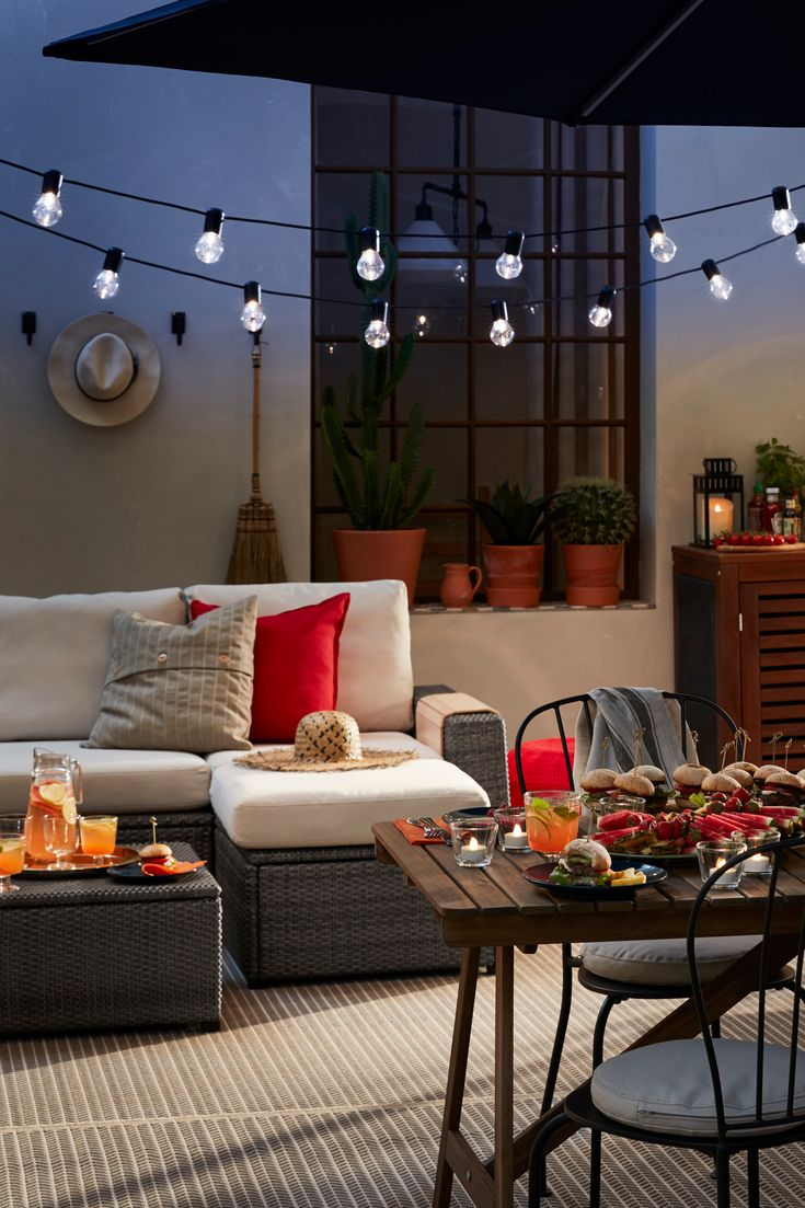 lichterkette 12 led svartr schwarz f r drau en in. Black Bedroom Furniture Sets. Home Design Ideas