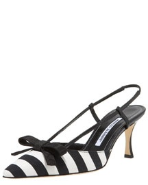 foot print!White Fashion, Blahnik Galoping, Black And White, Galoping Stripes, Manolo Blahnik, Blahnik Stripes, Black White, Canvas Halter, Stripes Canvas