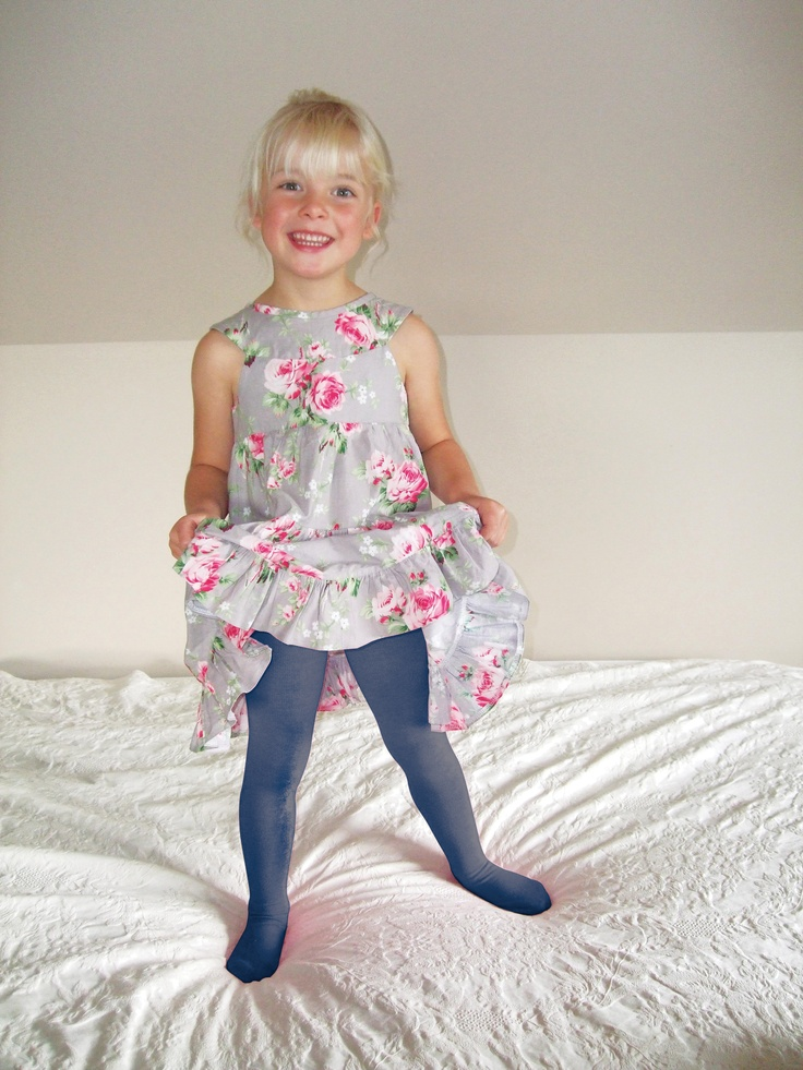 warm legs, feet and back with merino tights in blue. www.cosytoes.com