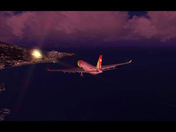 Chegada ao aeroporto da anilha da Madeira