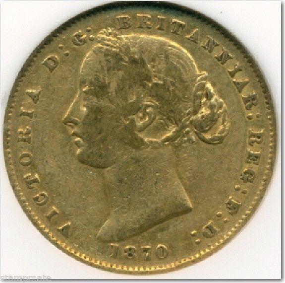 AUSTRALIA SOVEREIGN 1870 Sydney Mint Gold NGCA VF 35  - #244150-013