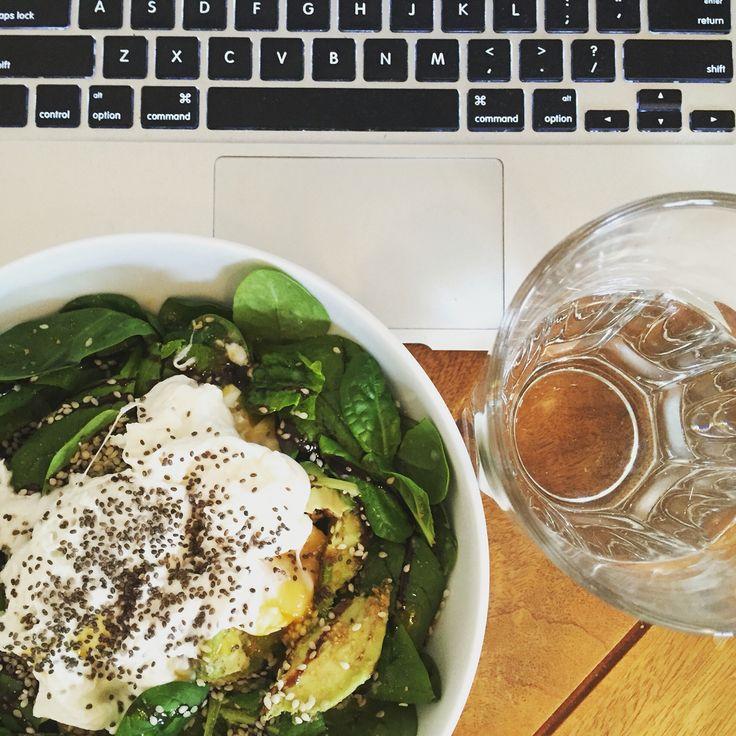 Spinach & Avocado Breakfast Bowl