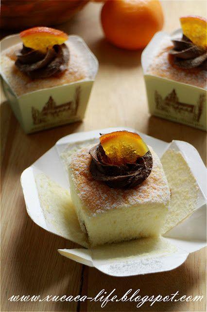 Butter Flour & Me Love Xinlingzhiyue: chocolate cream cup orange Hokkaido chiffon (Chocolate Cream Orange Hokkaido Chiffon)