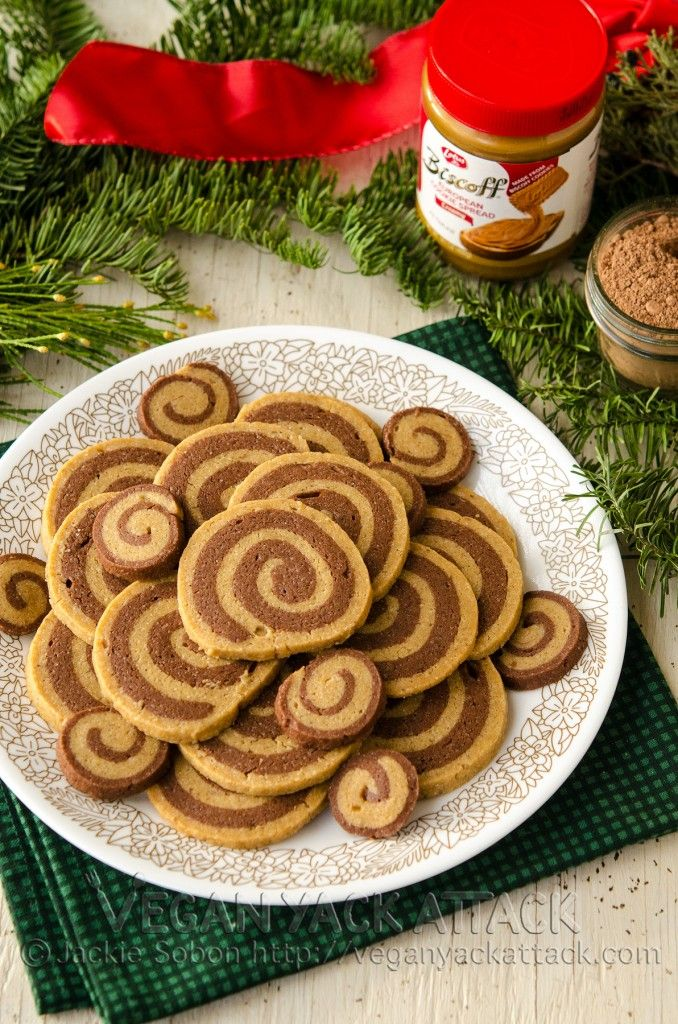 Jackies Chocolate Biscoff Pinwheel Cookies - use PB instead if biscoff