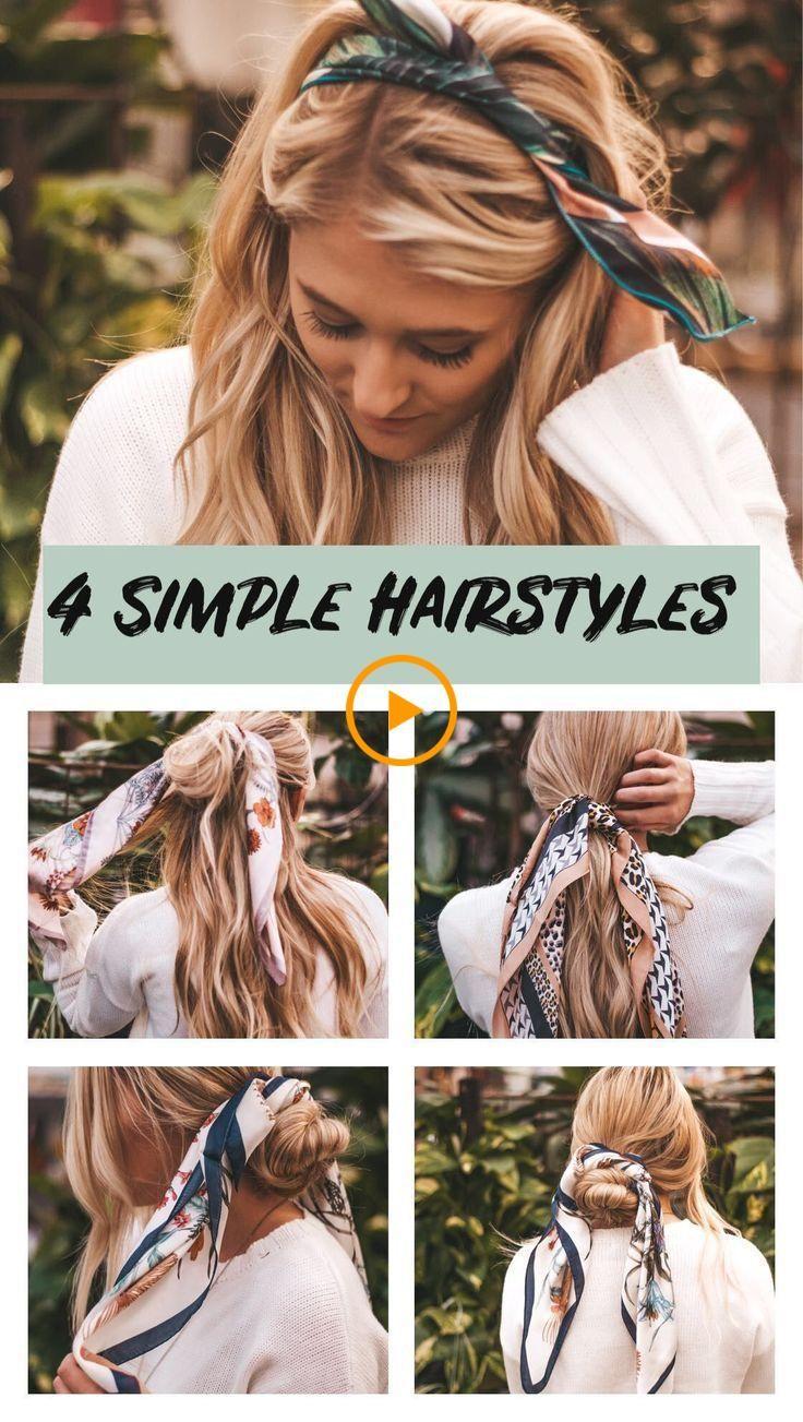 Peinados simples simples. Peinados de 10 minutos. Peinados rápidos