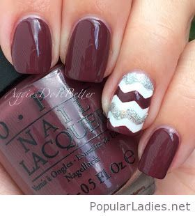 Lovely manicure chevrons and OPI