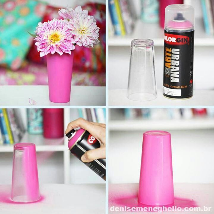 Easy way to beautify a glass for a vase