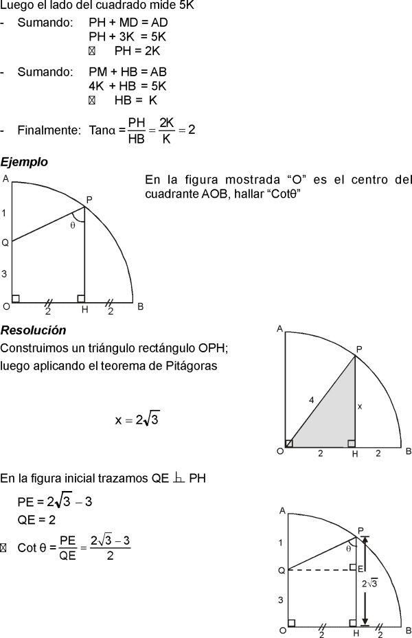 Razones Trigonometricas De Angulos Agudos Explicaciones Y