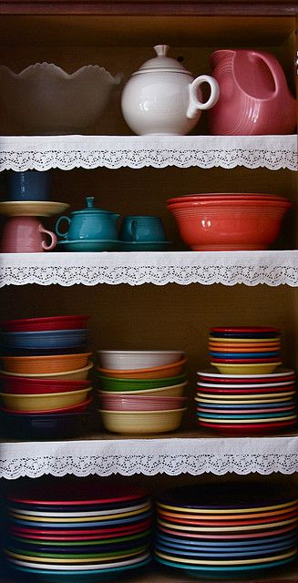 someday would like to invest in fiestaware, last forever and I could get them in just the colors I love, grays, purples, browns, creme, etc. aaaah
