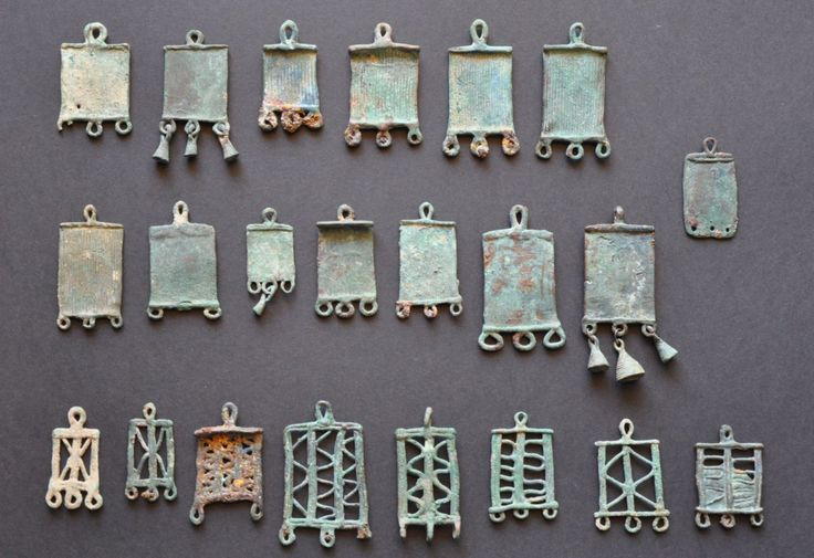 Amlash bronze pendants back, 1st millenium B.C. Private collection
