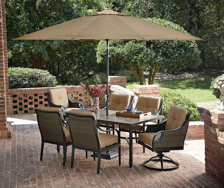 $673 La Z Boy Outdoor Charlotte 7 Piece Dining Set   Outdoor Living   Part 32