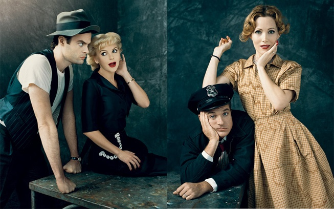 Bill Hader, Anna Faris, Jason Bateman & Leslie Mann - from Vanity Fair