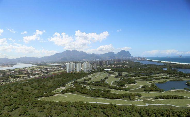 2ª Fotomontagem Aérea do Futuro Campo de Golfe Olímpico e do Riserva Golf