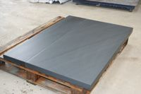 Welsh slate hearth - fine rubbed in finish with a contemporary look blue grey in colour -Welsh Slate Hearth - Smooth Finish - Honed Slate - Cut Slate Hearth - Slate Hearth - Fire Hearth