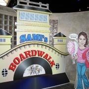Boardwalk theme party entrance